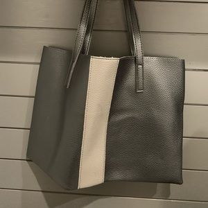 Vince Camuto Vegan Leather Black Lucky Tote Bag